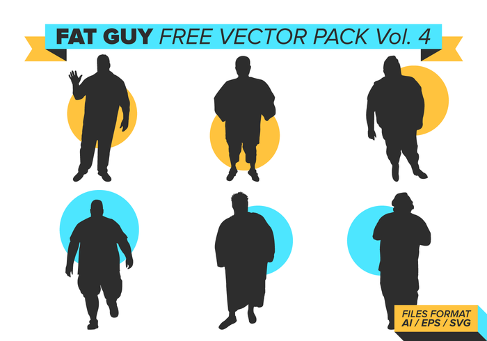 700x490 Fat Guy Silhouettes Free Vector Pack Vol. 4