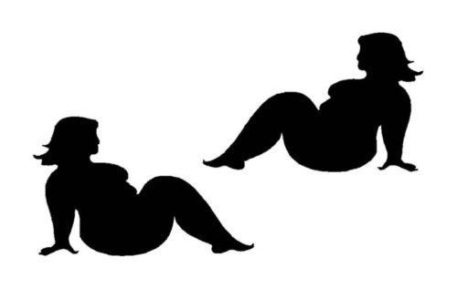 Fat Girl Silhouette