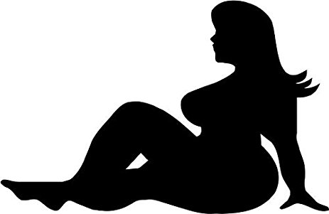 463x301 Mud Flap Fat Girl Funny Vinyl Decal Sticker 6 Wide