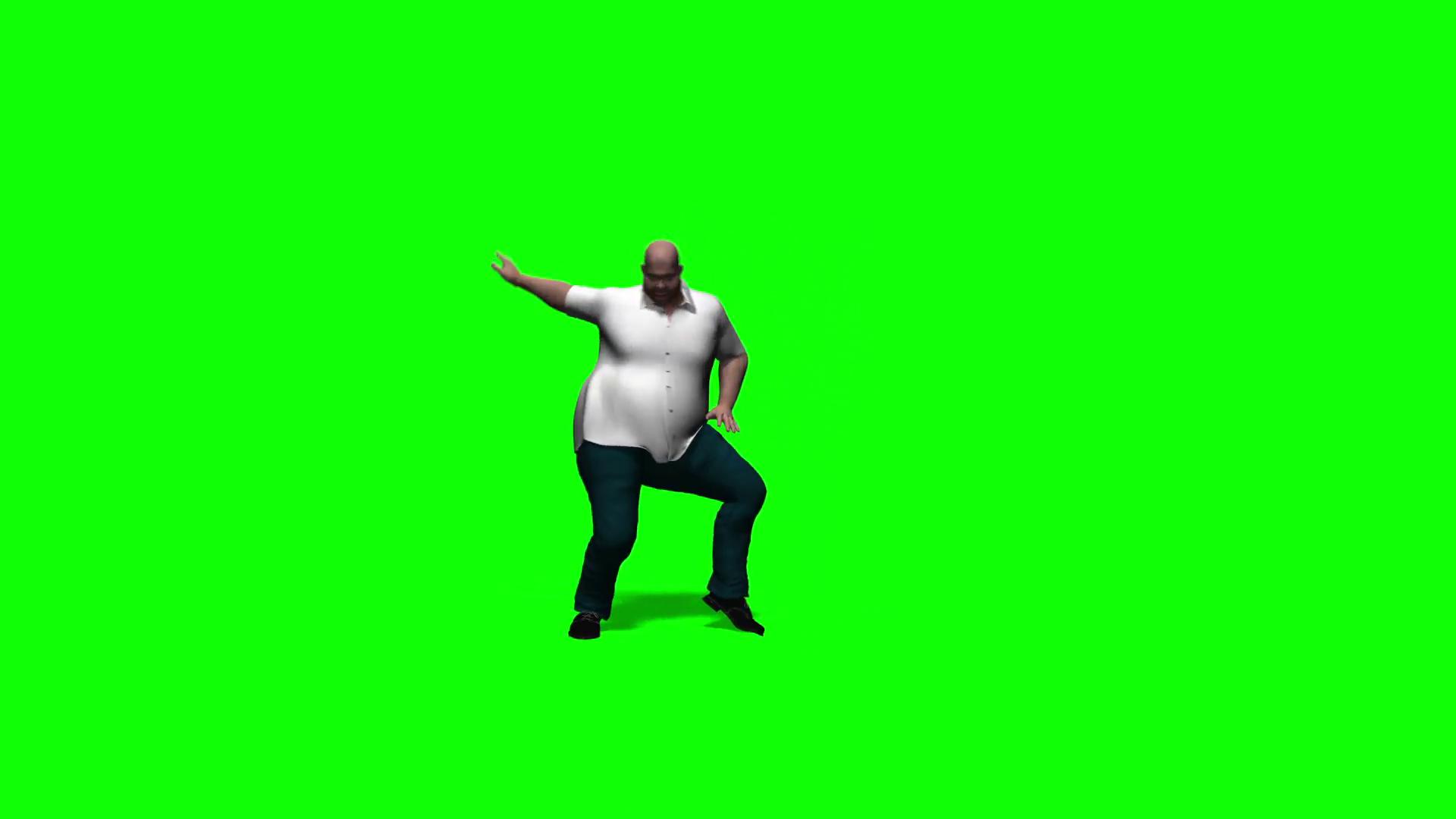 1920x1080 Fat Man Dancing (Green Screen) Motion Background