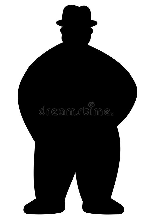630x900 Gallery Fat Man Silhouette,