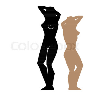 320x320 Set Of Fat And Skinny Women Stock Vector Colourbox