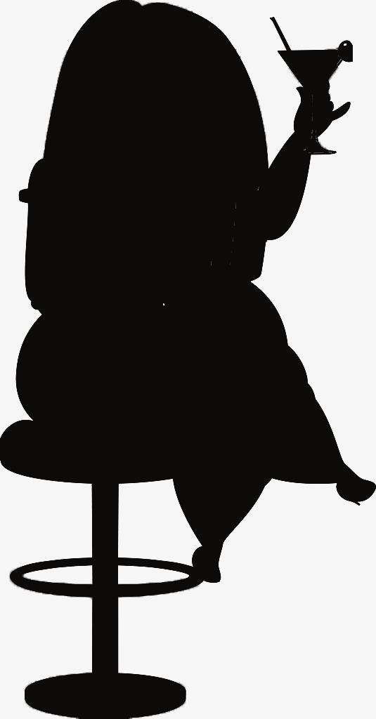 535x1024 Take Glasses Fat Woman Black Silhouette, Woman, Black, Sketch Png