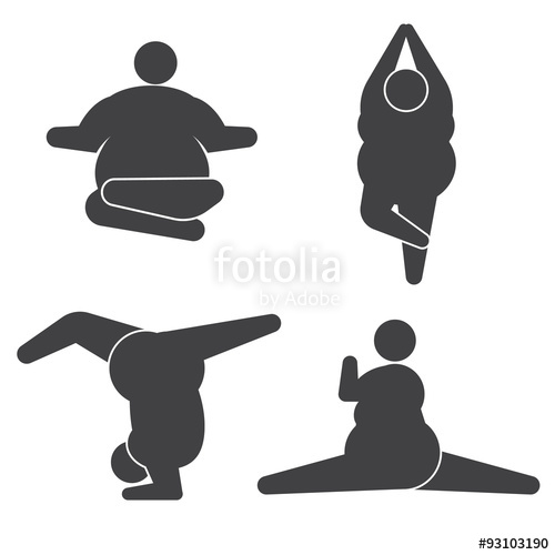 500x500 Fat Man In Pose Practicing Yoga Stock Image And Royalty Free