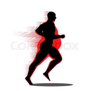320x320 Fat Man Turning Into Thin Designed On Orange Background Graphic
