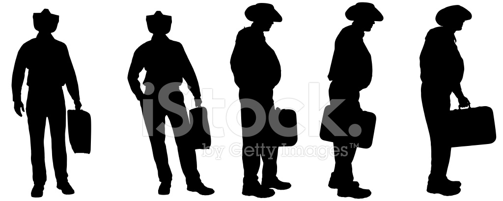 1024x409 Vector Silhouette Of A Fat Stock Vector