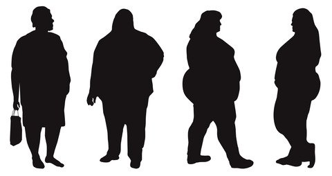Fat Person Silhouette at GetDrawings com | Free for personal
