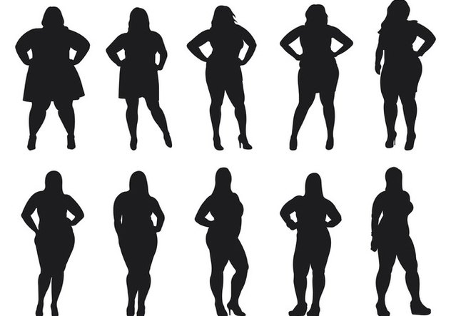 632x443 Fat Women Silhouettes Vector Free Vector Download 381191 Cannypic