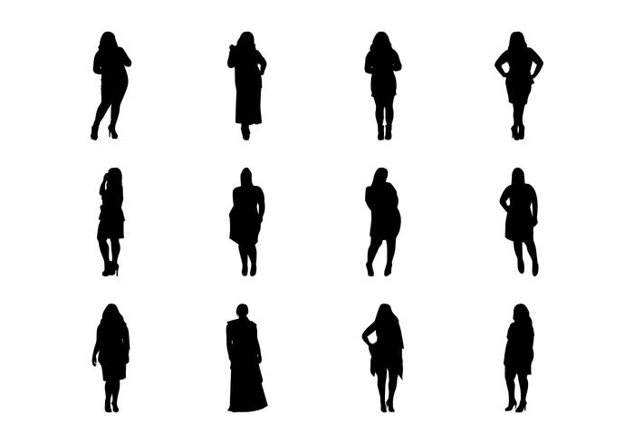 700x490 Free Fat Women Silhouette Vector