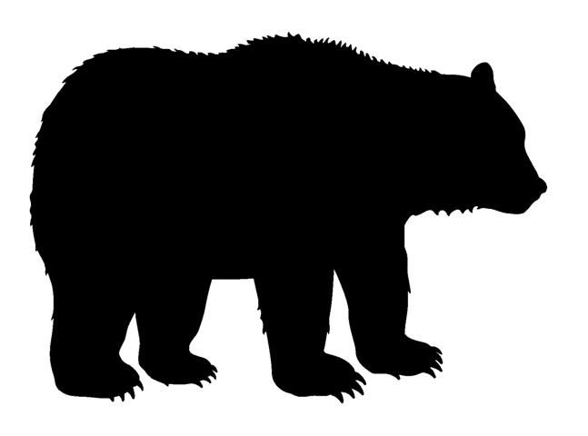 647x480 Grizzly Bear Silhouette Clipart