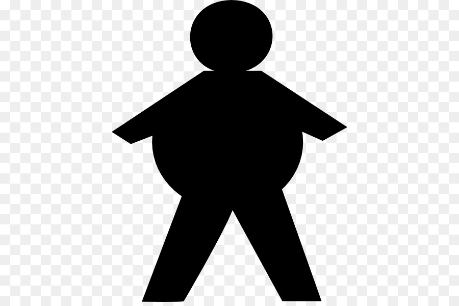 900x600 Stick Figure Fat Clip Art