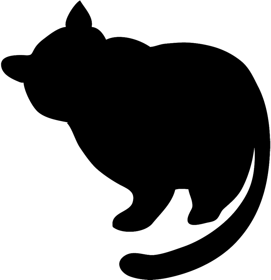 886x915 Fat Black Cat Clipart