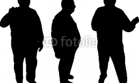 280x168 Fat Man Silhouette Clipart