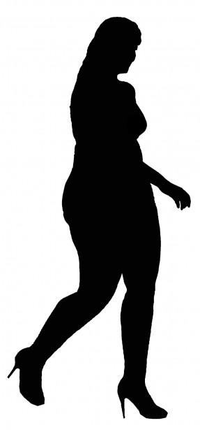 287x615 Plus Size Model Silhouette Free Stock Photo