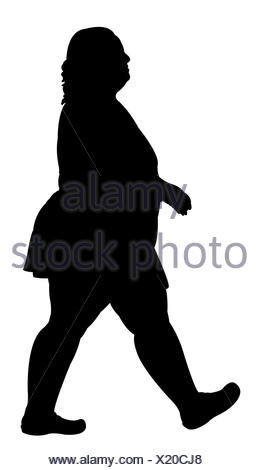 258x470 Silhouette Of A Fat Woman Stock Photo 10838182