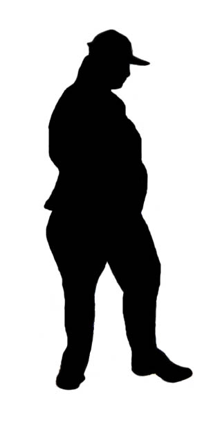 305x613 Stock Pictures Obesity Silhouettes