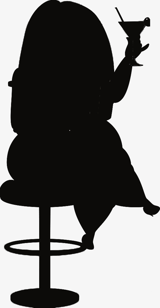 535x1024 Take Glasses Fat Woman Black Silhouette, Woman, Black, Sketch Png
