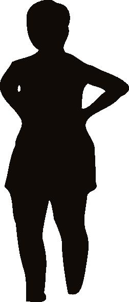 252x589 Woman Silhouette Hands In Waist Clip Art