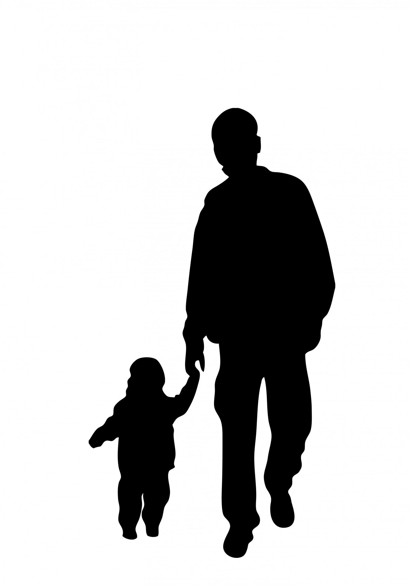 1345x1920 Father And Son Silhouette Free Stock Photo