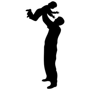 300x300 Father And Child Silhouette Stencil By Crafty Stencil Crafty