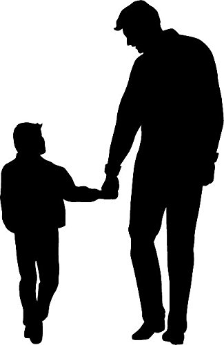 325x500 6 White Vinyl Father And Son Silhouette Design Die