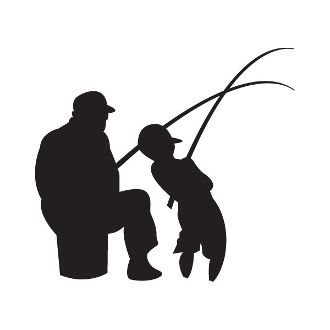 330x330 New Custom Screen Printed T Shirt Fishing Father Son Silhouette