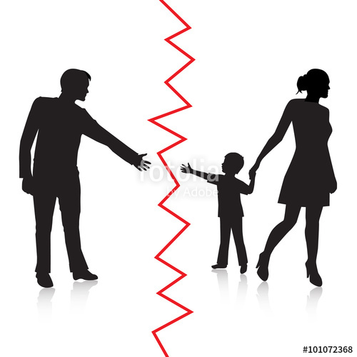 500x500 Silhouette Of A Man Reaching To His Young Child, But The Mother