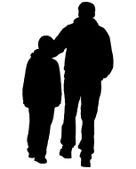 153x190 Father And Son Clip Art, Free Vector Father And Son
