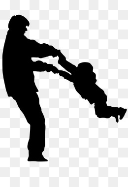 260x380 Father And Son Hugging Silhouette Creative Park, Father And Son