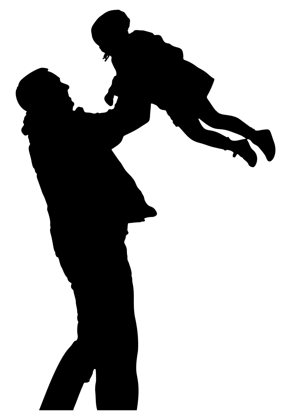 1163x1678 Father Playing With Daughter Silhouette Clipart