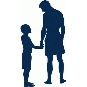 300x300 Father And Son Holding Hands Silhouette Holding Hands
