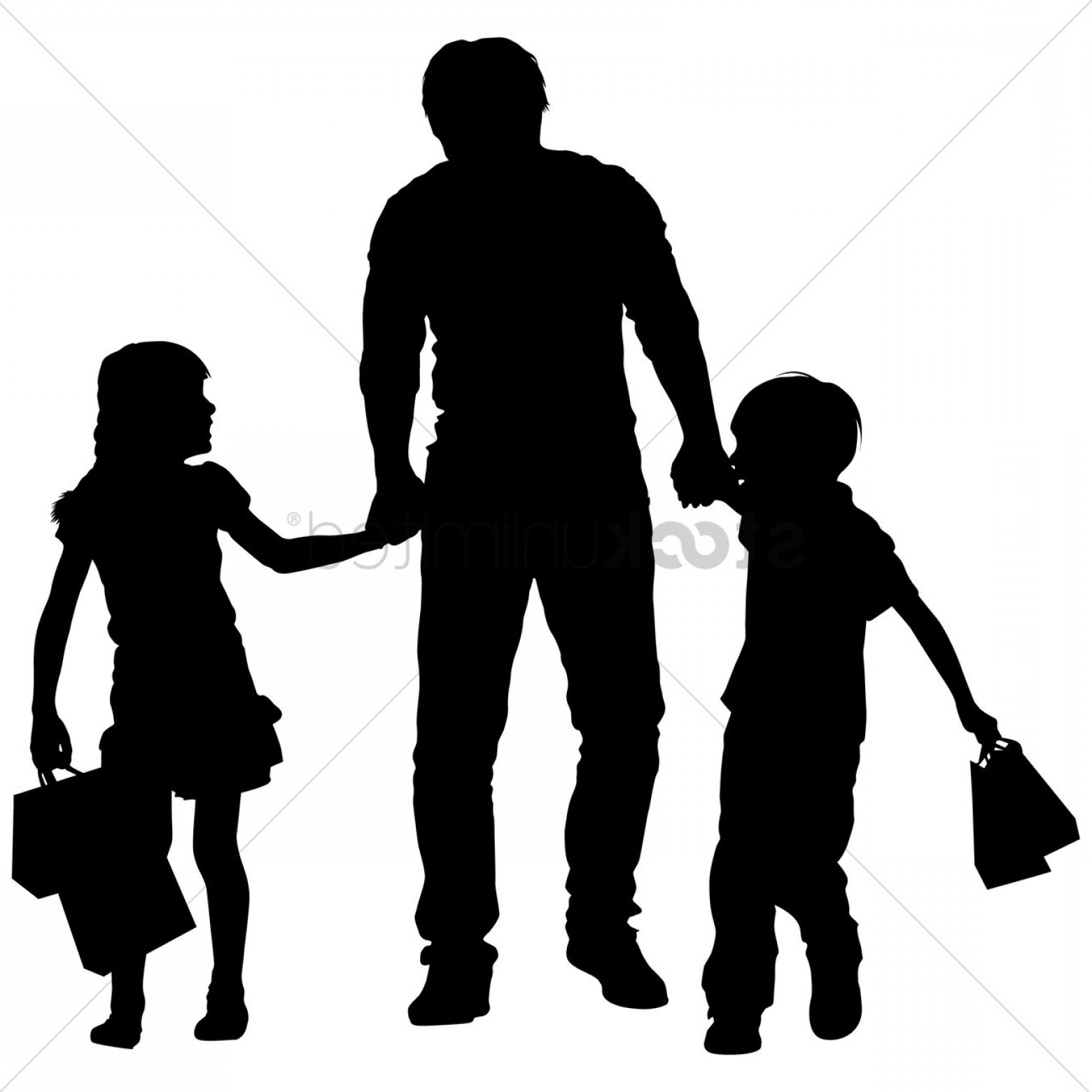 1560x1560 Silhouette Of A Father And Kids Shopping Sohadacouri