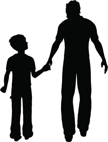 father son silhouette at getdrawings com free for personal use rh getdrawings com father and son hugging clipart dad and son clipart