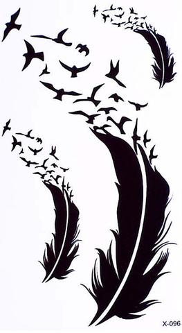 263x480 Chenoa Flying Bird Sparrow Silhouette Temporary Tattoo Mybodiart