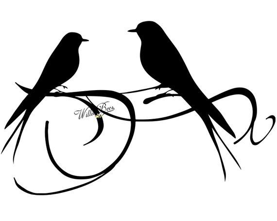 570x456 Love Bird Svg Bird Clipart Love Bird Silhouette Love Birds