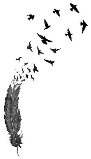 Feather Bird Silhouette Tattoo At Getdrawings Free For