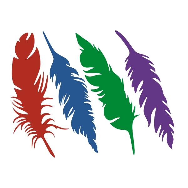 600x600 Feather Silhouette Svg Cuttable Design Animals