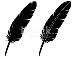 258x199 Feather Silhouette (Vector) Stock Vectors