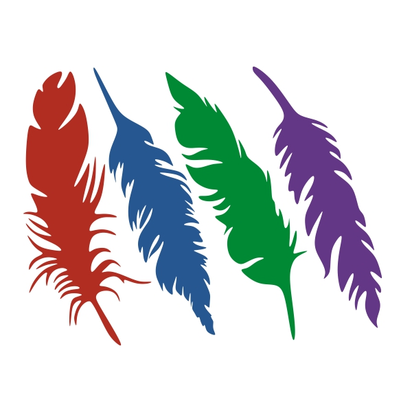 600x600 Feather Silhouette Cuttable Design