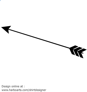335x355 Arrow Silhouette Clipart