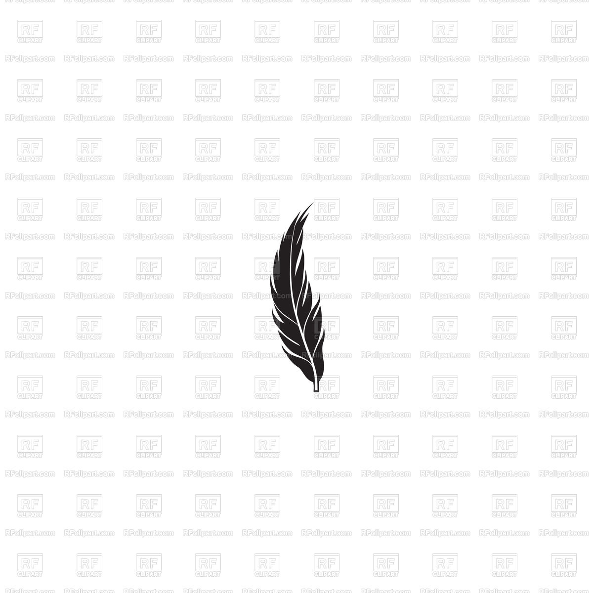 1200x1200 Feather Silhouette Royalty Free Vector Clip Art Image