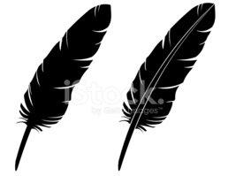 258x199 Feather Silhouette (Vector) Stock Vectors