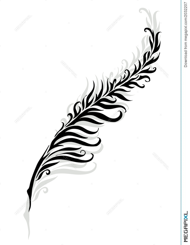 621x800 Feather Silhouette Illustration 2032207