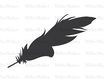 340x270 Feather Silhouette Etsy