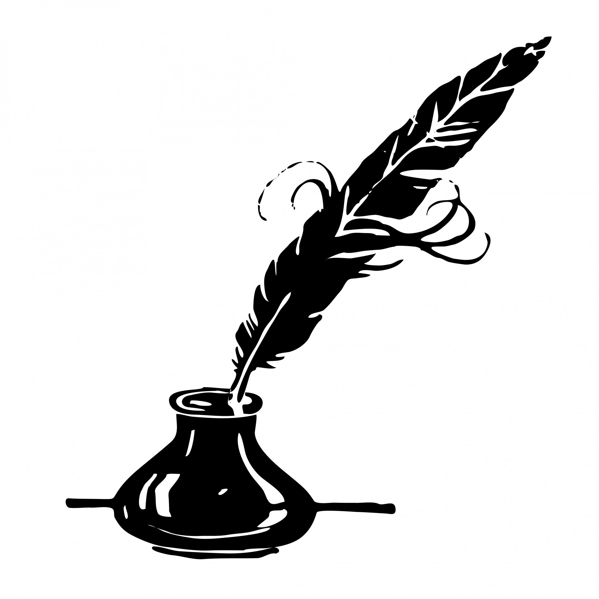 1920x1920 Ink Amp Feather Quill Clipart Free Stock Photo