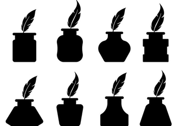 352x247 Inkwell Silhouette Vectors Free Vector Download 423351 Cannypic