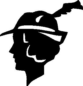 288x298 Retro Lady Silhouette Clip Art