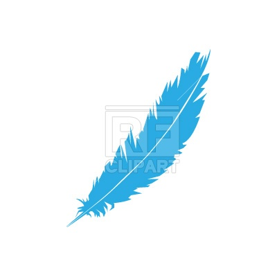 400x400 Feather Silhouette Free Vector Clip Art Image