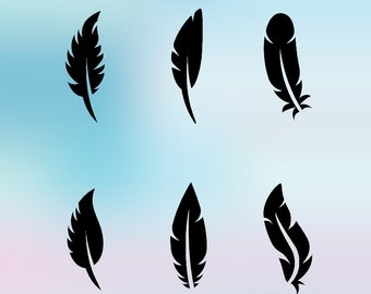 340x270 Tribal Feather Svg Etsy