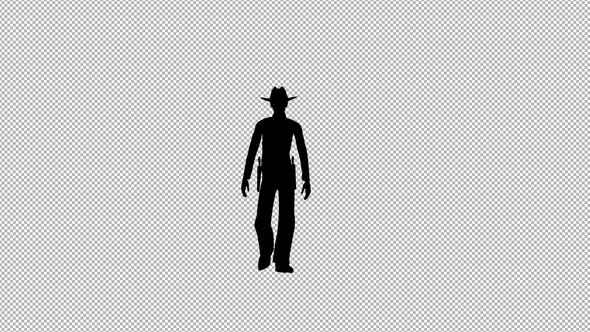 590x332 Cowboy Walk Silhouette By Handrox G Videohive